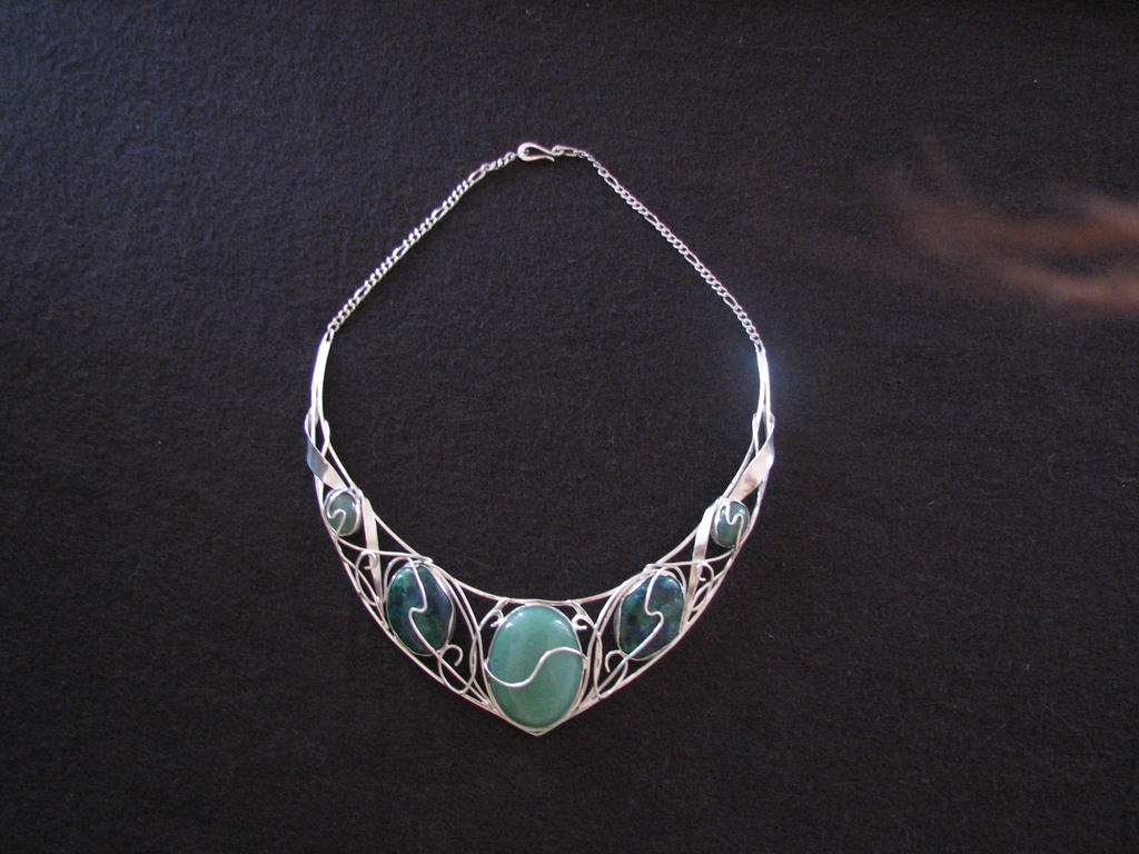 silver necklace by dunadair