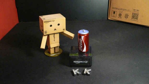 Danbo with Coca Cola by KernaDesign