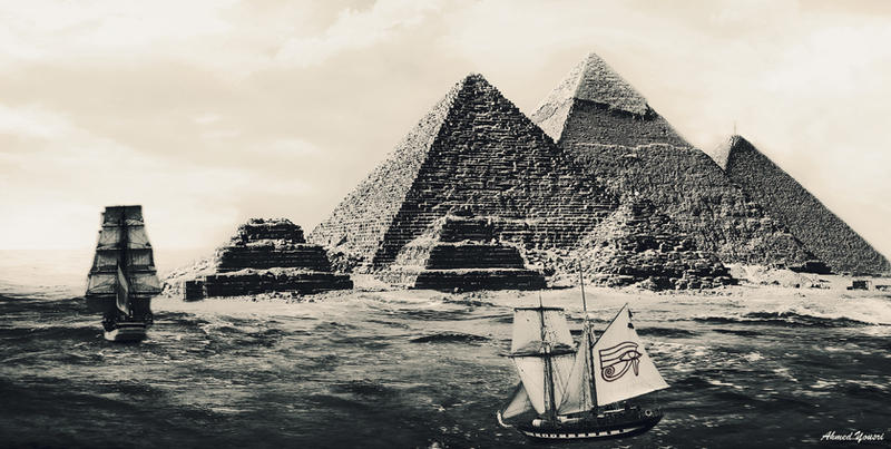 Fantasy of the Pyramids by ahmedyousri