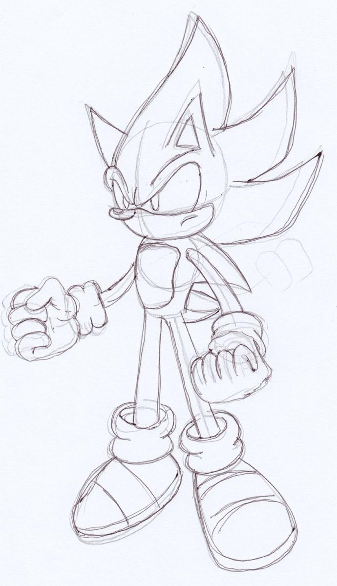 Super Sonic Battle Sketch By Omgnova On Deviantart
