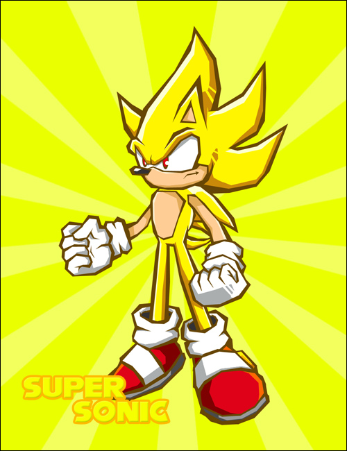 Super Sonic :: Battle Style by omgNova