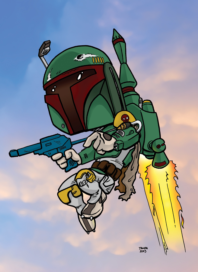 Boba Fett in color by JTampa