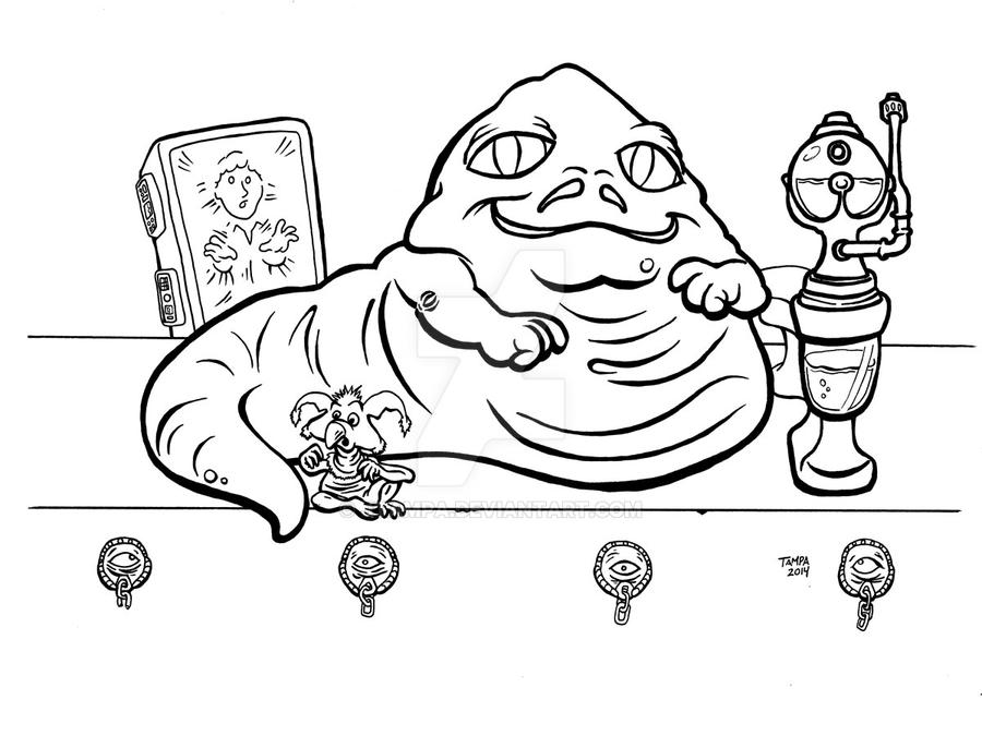 Jabba The Hut Free Colouring Pages