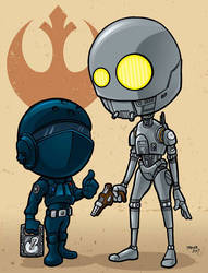 Jyn Erso and K2-SO