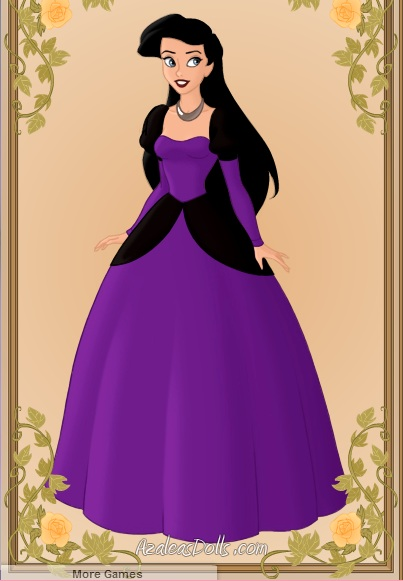 ariels sister purple gown by xovero1023 on deviantart