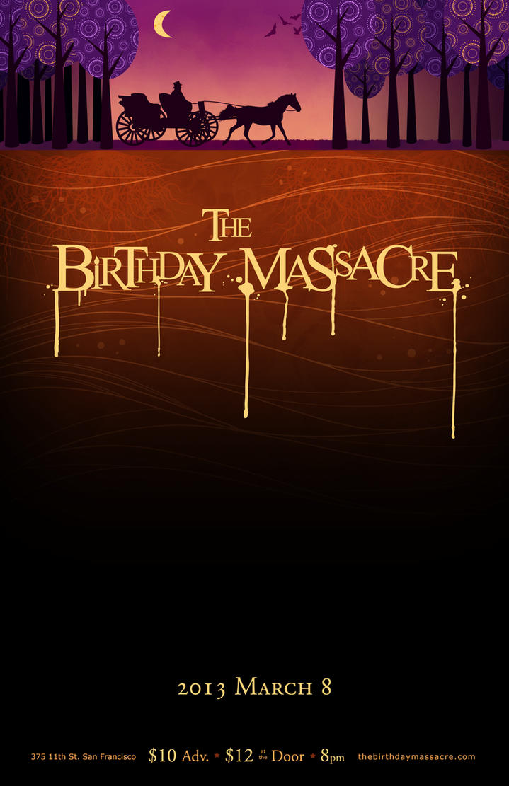 B day poster designs - Birthday Massacre Poster Design By Syracourage