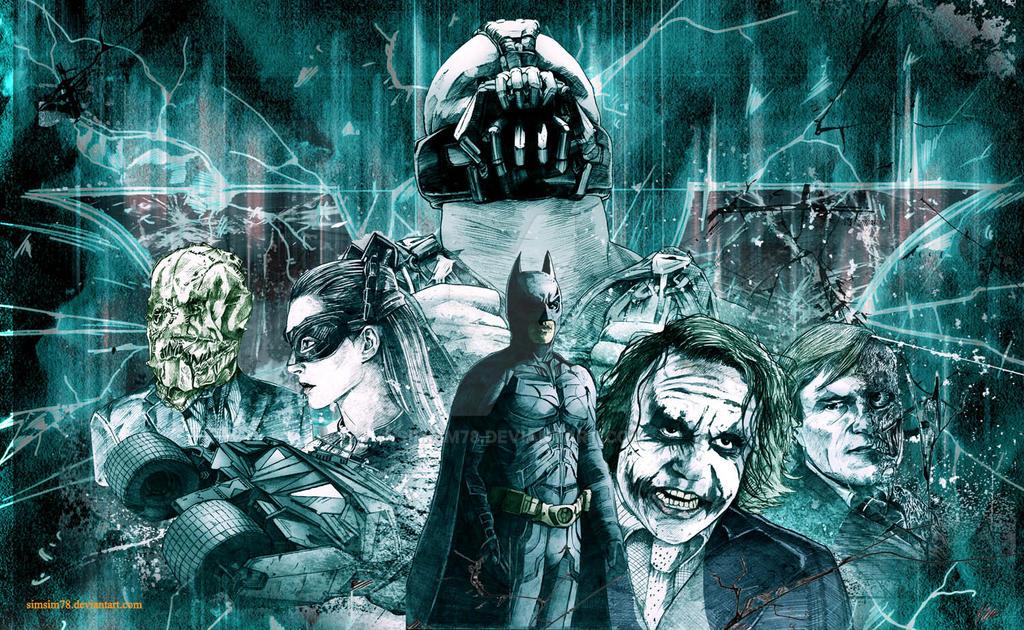 The Dark Knight trilogy by simsim78