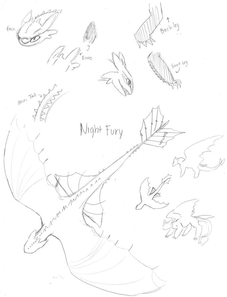 Night Fury AKA Toothless by lekku-white-wolf on DeviantArt