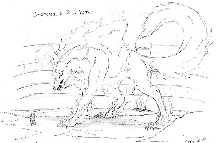Sesshomaru's True Form by lekku-white-wolf on DeviantArt