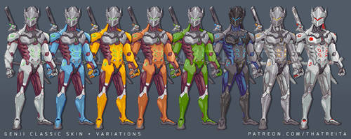 Genji classic skin + variations (with video)
