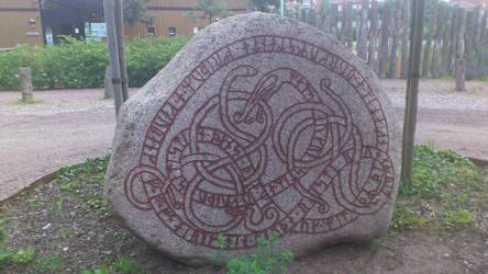 Viking runes in Trelleborg Skane Sweden by Midgaardsnake