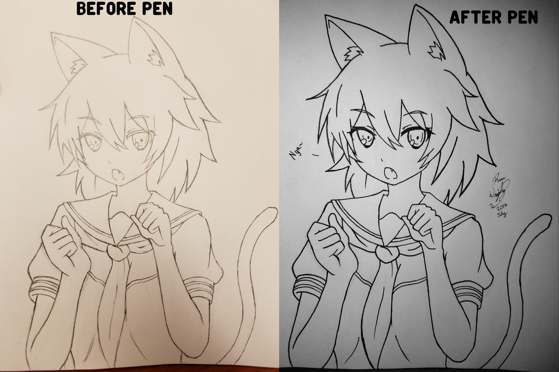 Anime Cat Girl Comparison by Miniomegaxis on DeviantArt