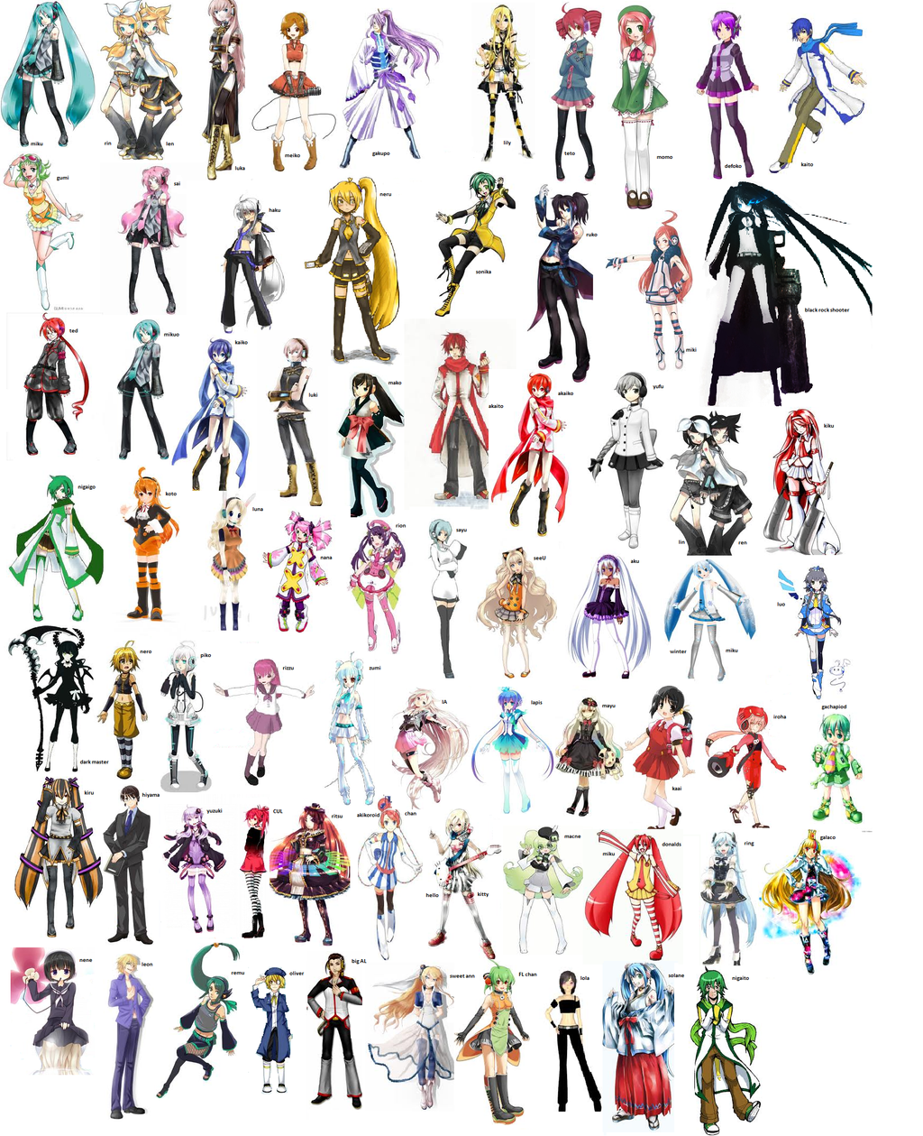 Vocaloid Characters List Names | www.imgkid.com - The ... Vocaloid Characters Name