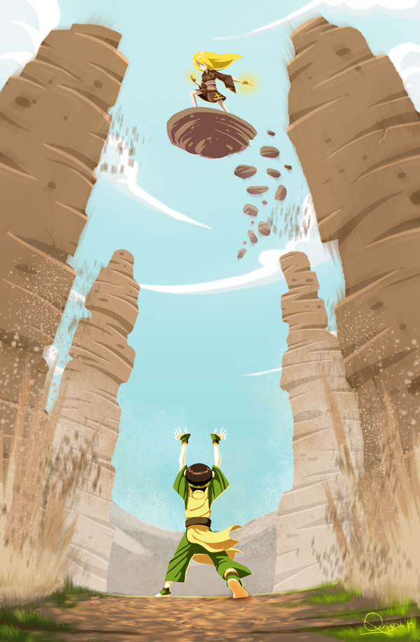 - Toph vs Terra - by sergio-quijada