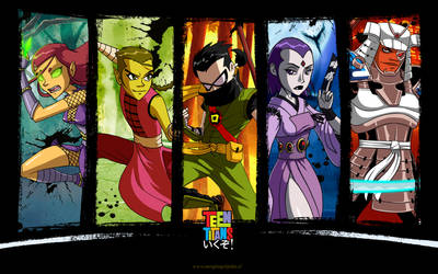 - Teen Titans: ikuzo! - Wallpaper by sergio-quijada