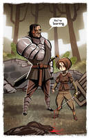 - Arya and The Hound - by sergio-quijada