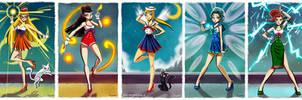 - Retro Sailor Scouts - by sergio-quijada
