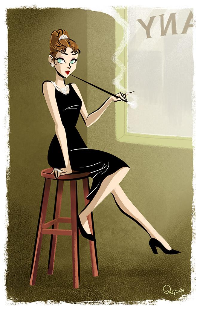 - Audrey Hepburn - Breakfast at Tiffany's by sergio-quijada