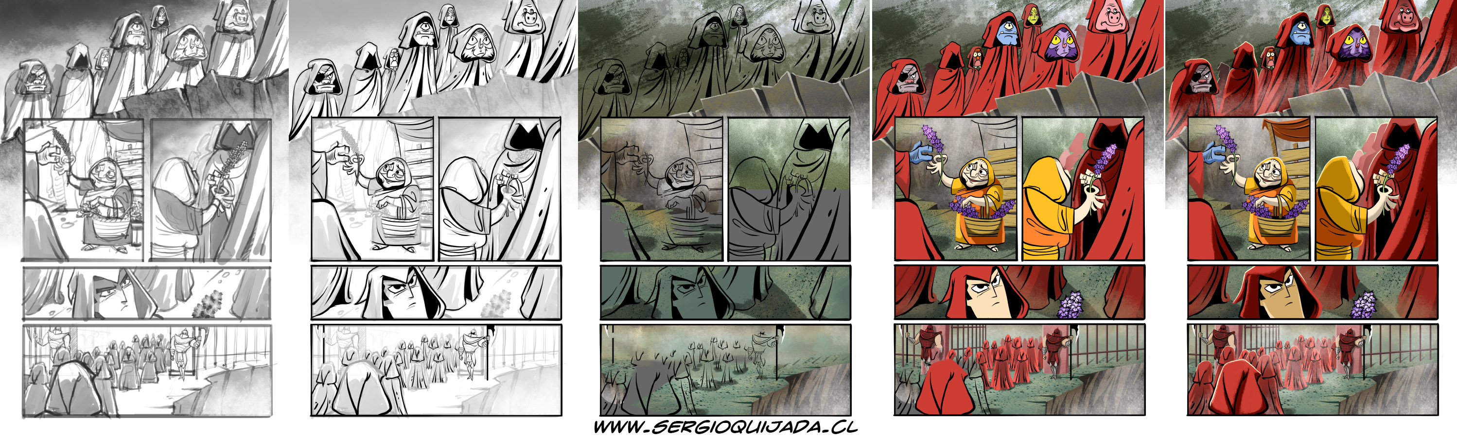 - Samurai Jack 16 - Page process + FB contest by sergio-quijada