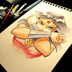 - Wonder Woman - Watercolors