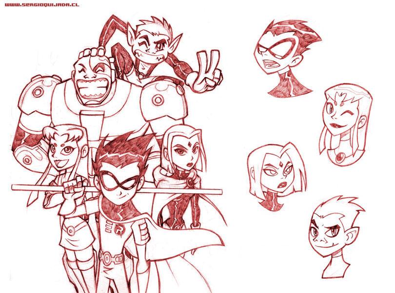 - Teen Titans Pencils - by sergio-quijada