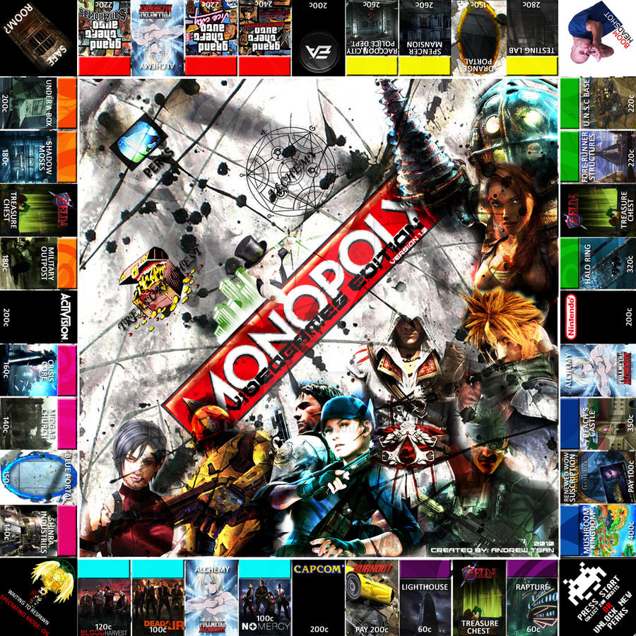Monopoly Videogame Edition By Log1ck On Deviantart
