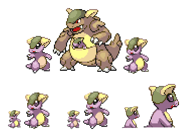 Baby Kangaskhan Sprites by Bombbity