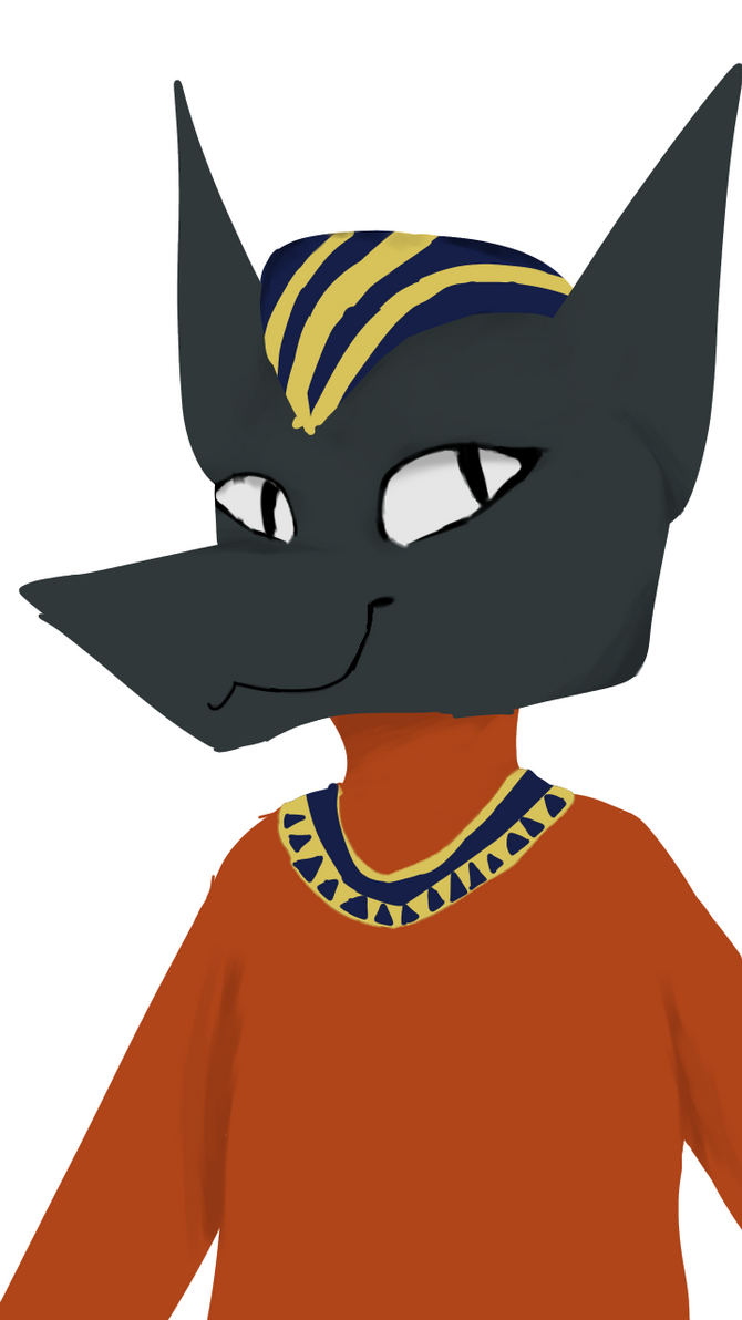 A really bad drawing of Anubis by xRoyalLatte