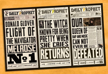 +Harry Potter Newspaper Inspired by maarcopngs