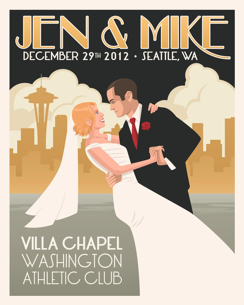 jen and mike wedding poster by mscorley on deviantart