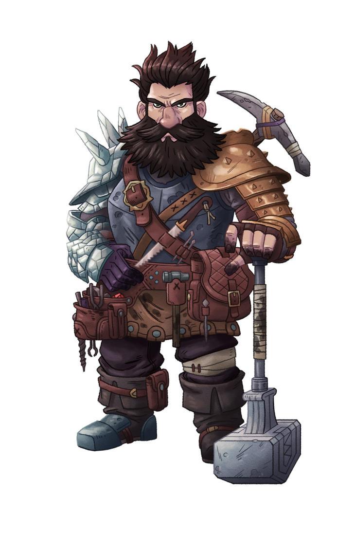 Pathfinder Dwarf by mscorley