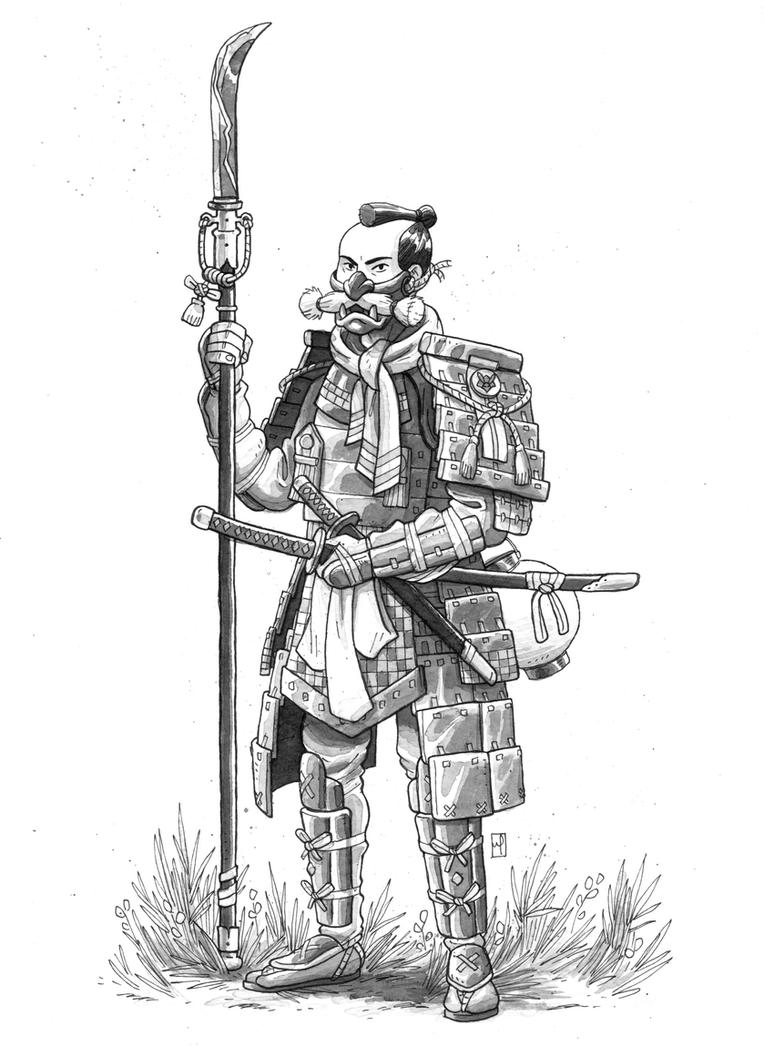 Ascetic Samurai by mscorley