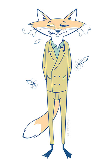 Fantastic Mr Fox by sketchbrooks