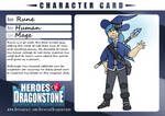 Heros Of Dragonstone Character Card: Rune