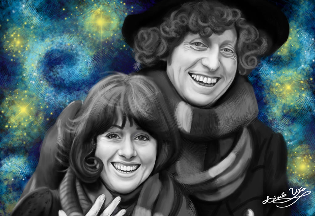 Starry Night: Sarah Jane and The Doctor by AimeeEUart