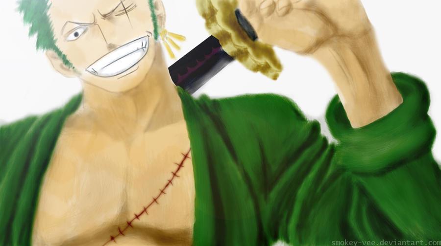 Cheers Roronoa by smokey-vee