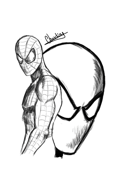 Spiderman Sketch By ClaudioJose On DeviantArt