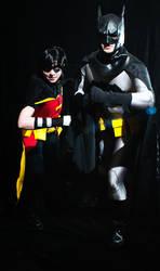 Batman and Robin Cosplay by HelloDarkside