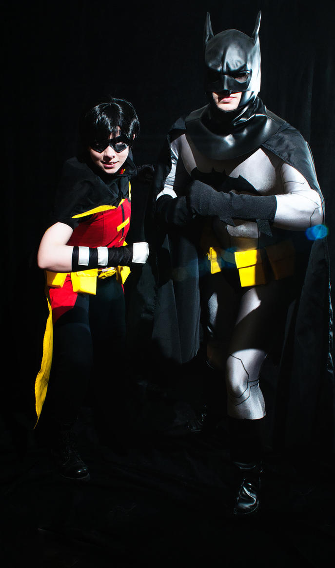 Batman and Robin Cosplay by HelloDarkside
