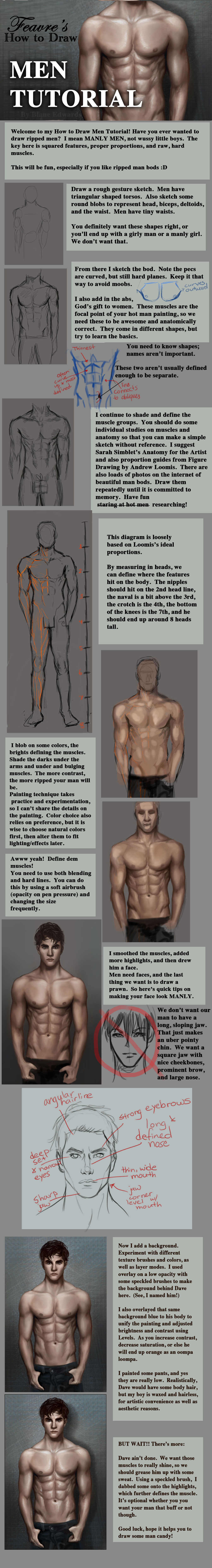 How to Draw Men Tutorial