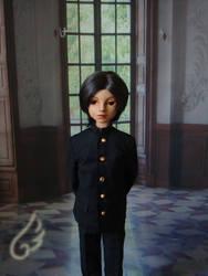 Wayan with his school uniform