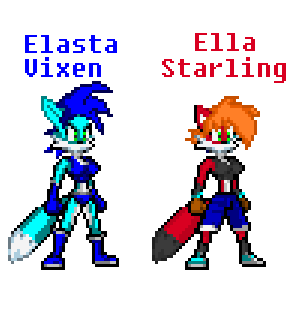 Elasta Vixen / Ella Starling (fixed) by Galactic-Stars1