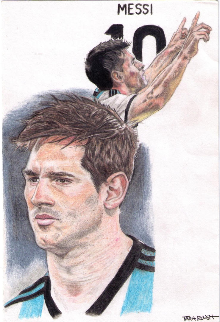 Lionel Messi 10 by drawu1