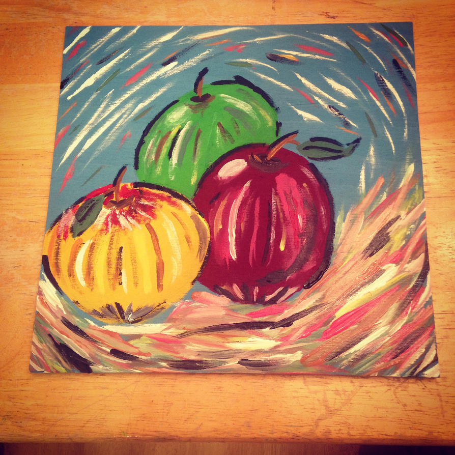 Abstract Apples by JediSkygirl
