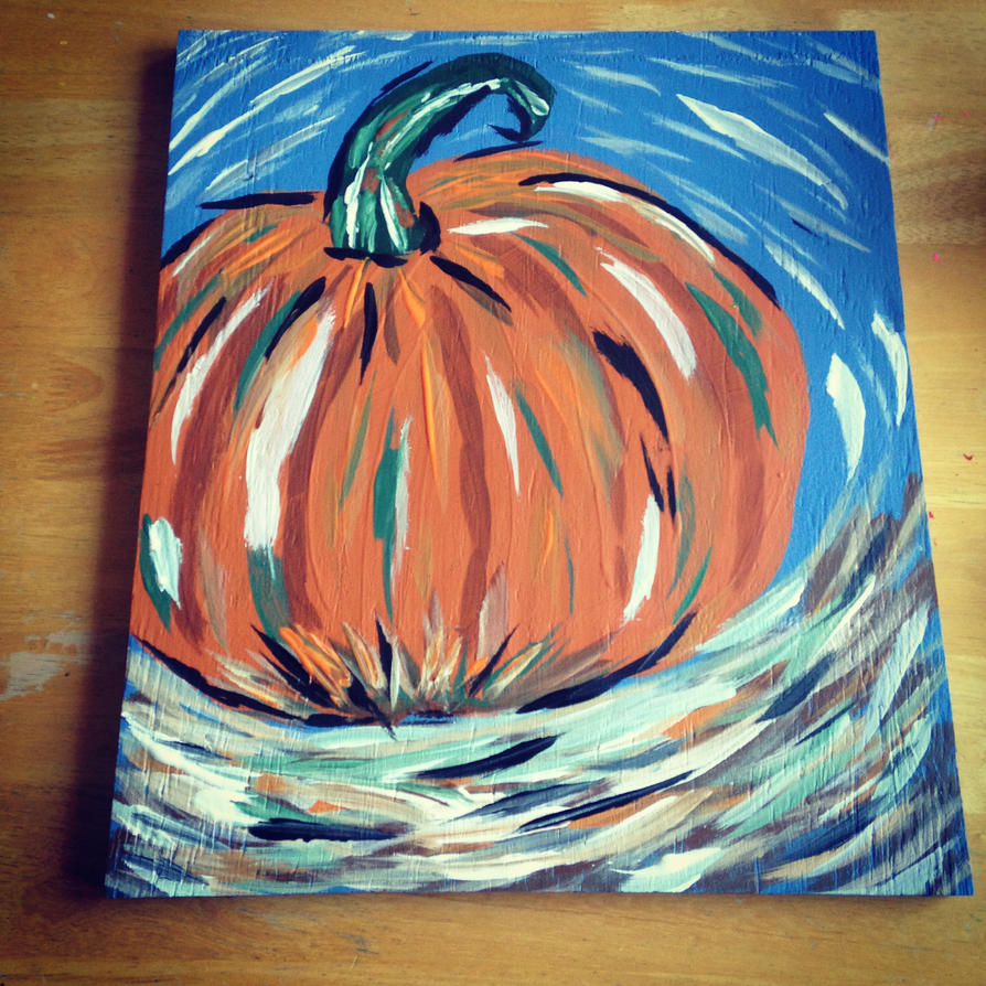 Abstract Pumpkin by JediSkygirl