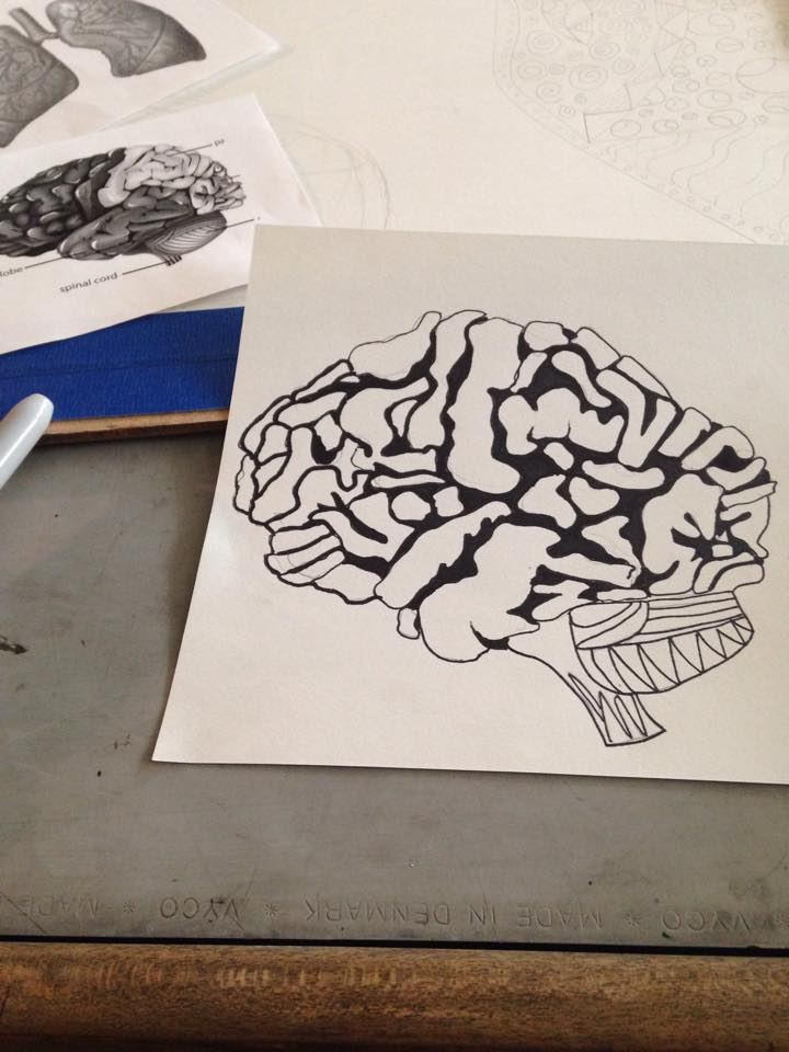 Continuous Line Brain by AbbyCatWolff