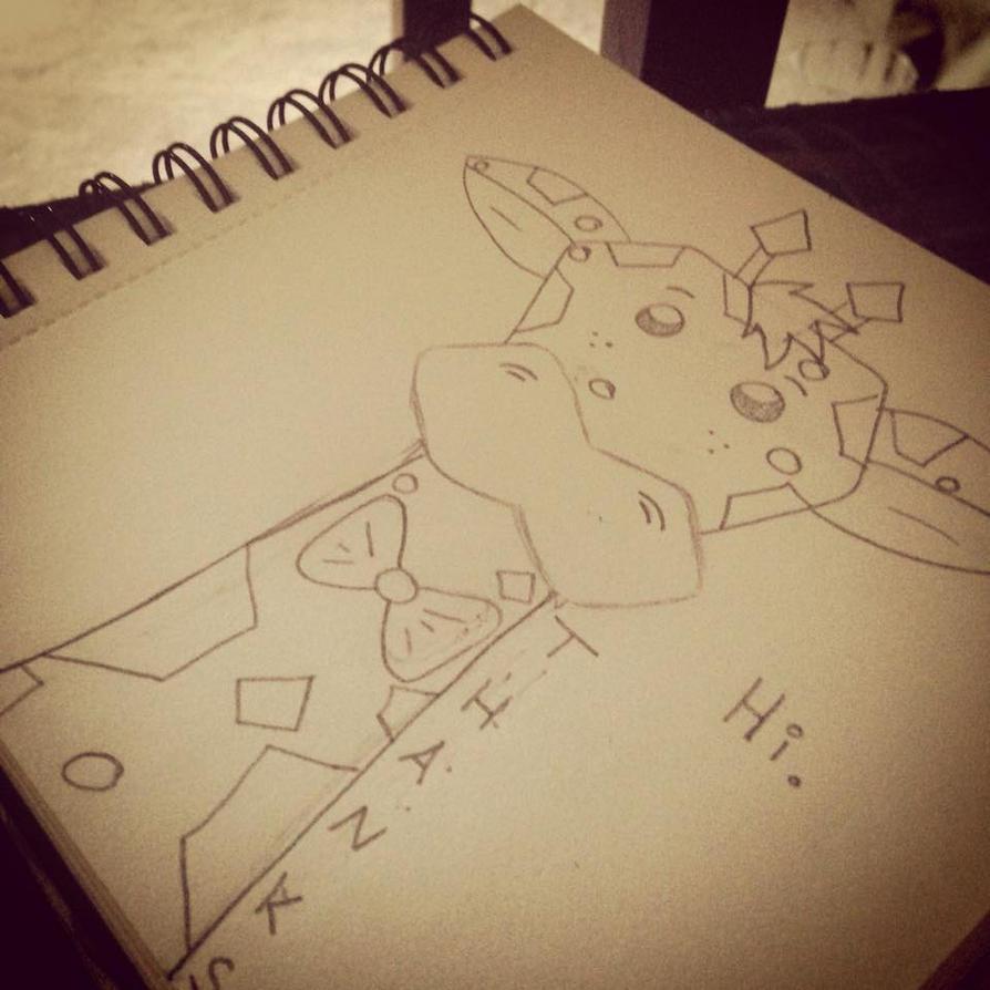 Giraffe Sketch by AbbyCatWolff