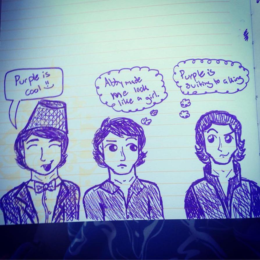 Purple British Men by AbbyCatWolff