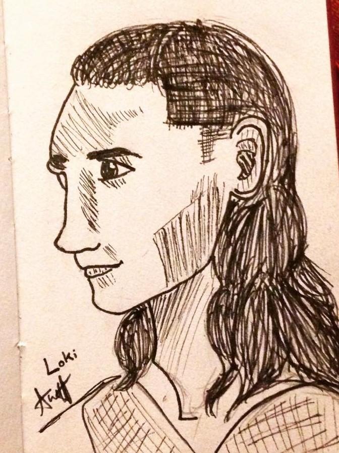 Loki Dark World Sketch by AbbyCatWolff