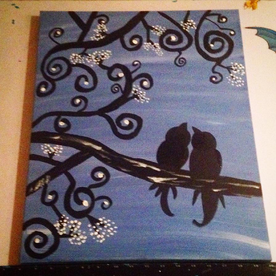 Blue Bird Love by AbbyCatWolff